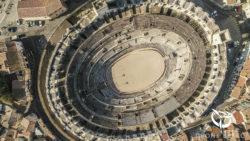 Vue par drone effect d'Arles