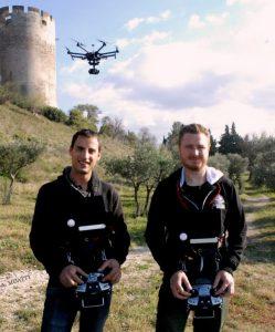 Frédéric et Pierre, fondateur et prestataire pour Drone Effect, Gard.