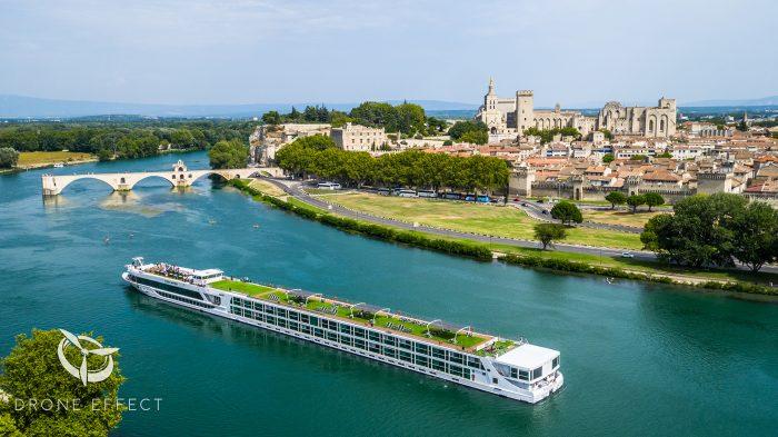 Photographies par drone au dessus du Rhône pour la compagnie Luxury Cruise 2017