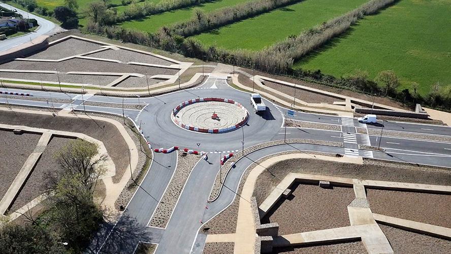 Epad ouest provence chantier régulier des réseau routier et parking