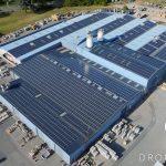 Vue aérienne d'une entreprise du Gard
