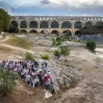 Le groupe Brl au Pont du Gard