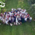 Photos de groupe au Pont du Gard dans par drone