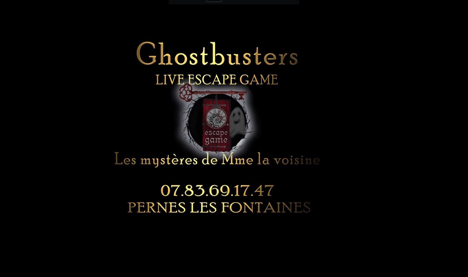 Court métrage escape game ghostbusters