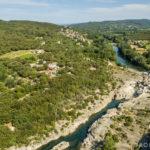 Prise de vue aérienne de la Roque sur Cèze dans le Gard